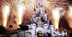 Замок Диснейлэнд , феерверк, гид по Парижу