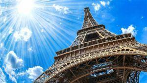 Эйфелева башня вид с низу