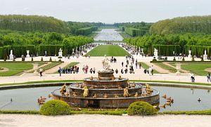 Вид на версальские фонтаны